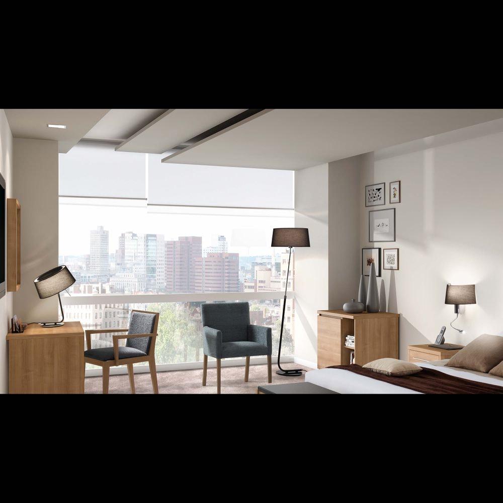 Wandlampe HOTEL mit LED-Lesearm IP20 Chrom, Schwarz 2