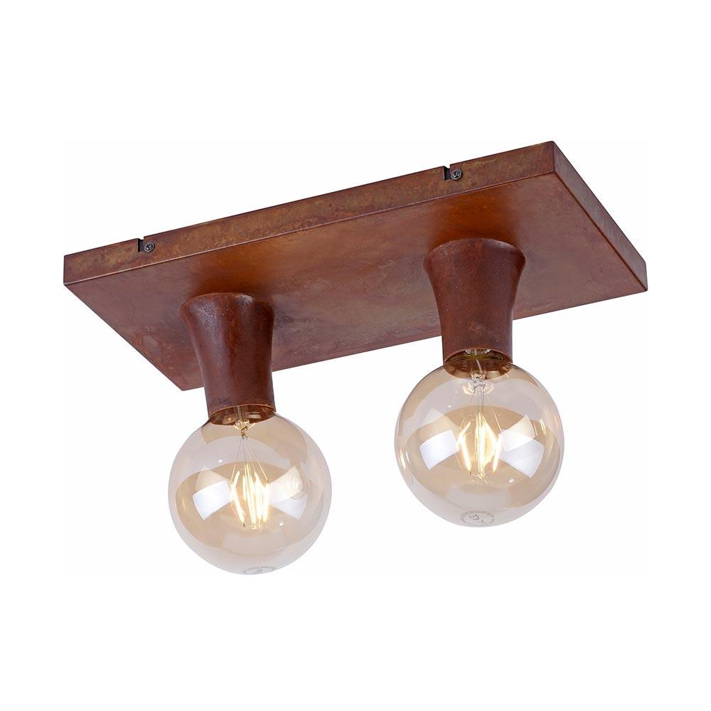 Deckenlampe Turn Me 2-flg. Rostfarben 3