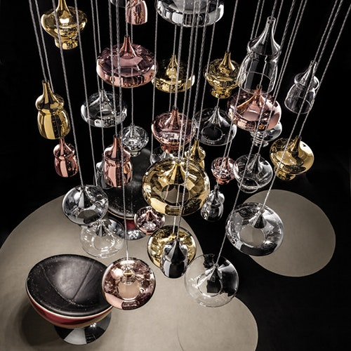 Studio Italia Design Nostalgia Glass Large 28cm LED Pendelleuchte 2