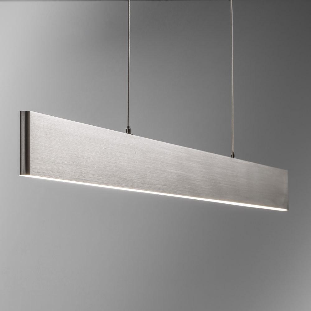 Slim LED-Hängeleuchte 3040lm Up&Down dimmbar Alu-matt