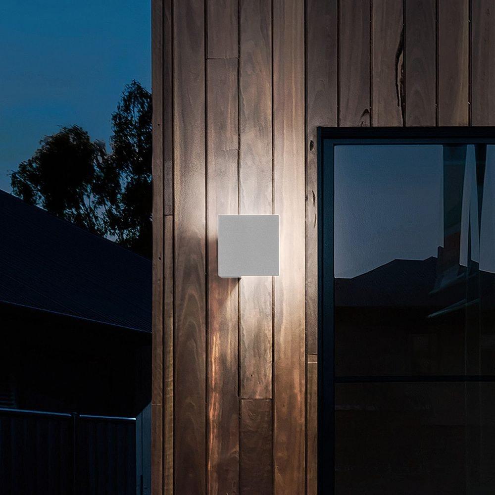 Lodes Puzzle Outdoor Single Square LED Wandlampe 1