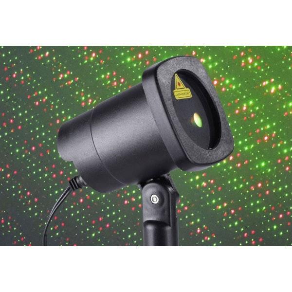 Garten Laser Aussenstrahler mit beweglichen Lichtpunkten Grün & Rot 4