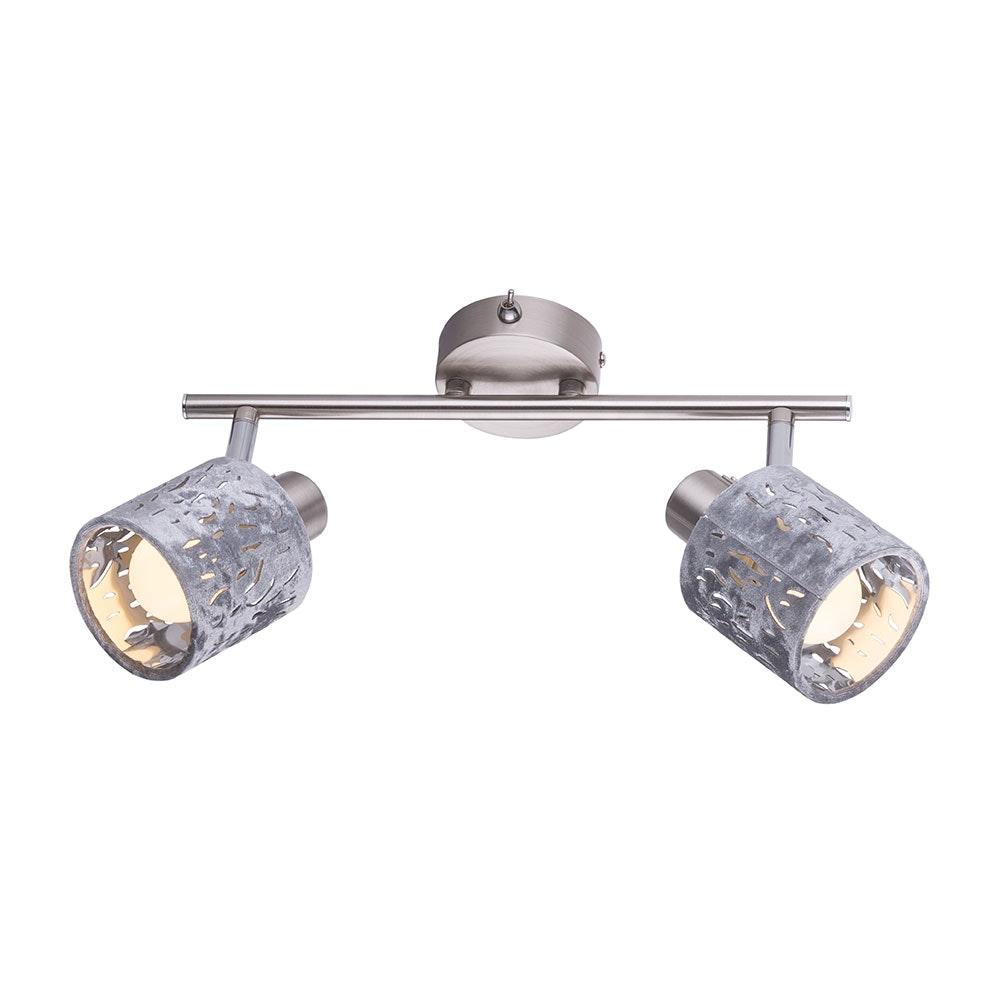 Strahler Alys 2-flg. Schirm mit Dekorstanzungen Nickel-Matt, Silber-Metallic 1