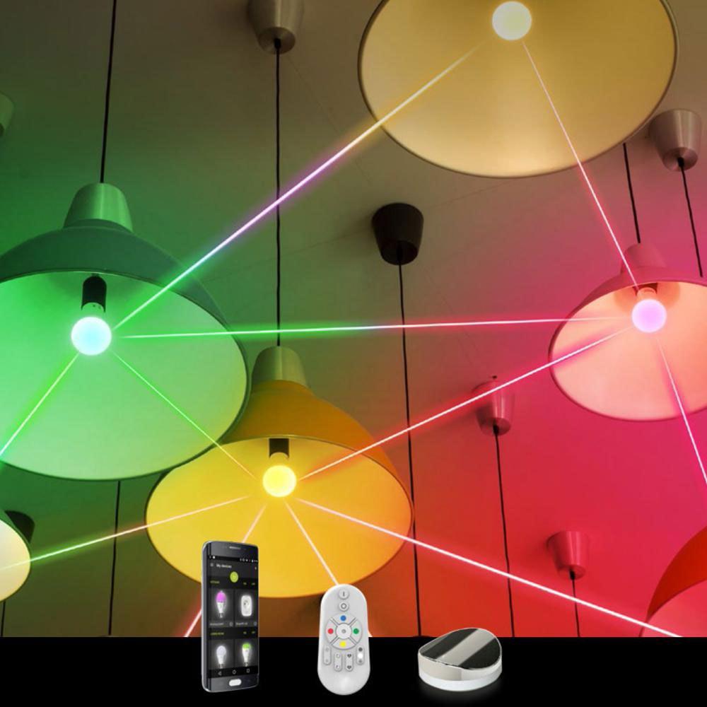 Connect LED Deckenlampe Kristalleffekt 5400lm RGB+CCT 6