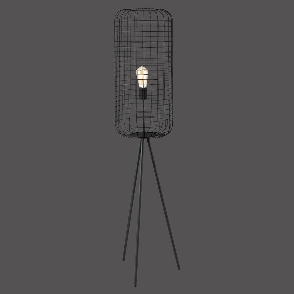 Stehlampe Fabio 135cm Cage-Optik Schwarz 2