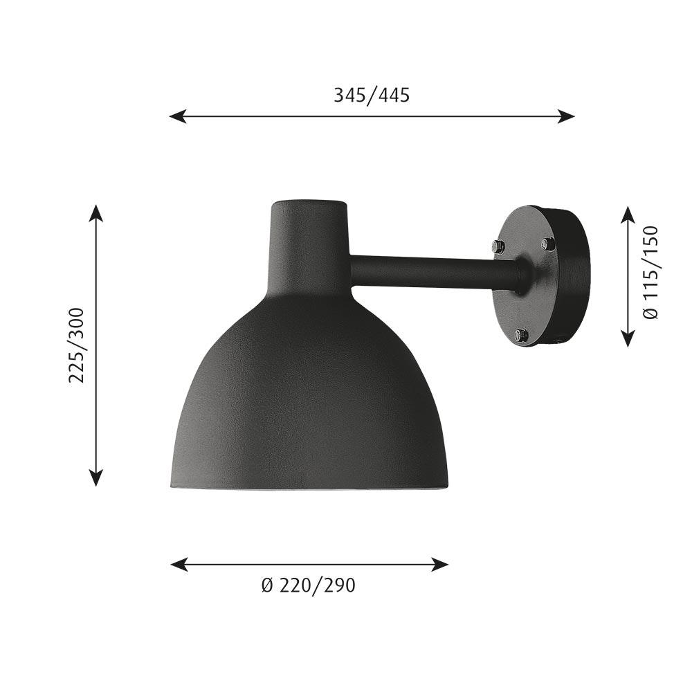 Louis Poulsen Außenwandlampe Toldbod 220/290 IP43 9