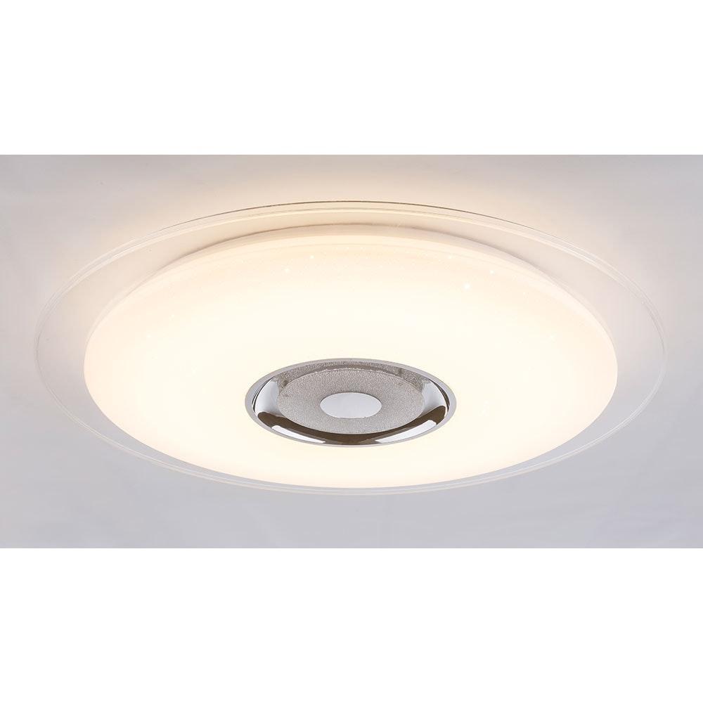 LED Deckenleuchte Tune Sparkle Decor Lautsprecher CCT APP Weiß, Opal, Klar 10
