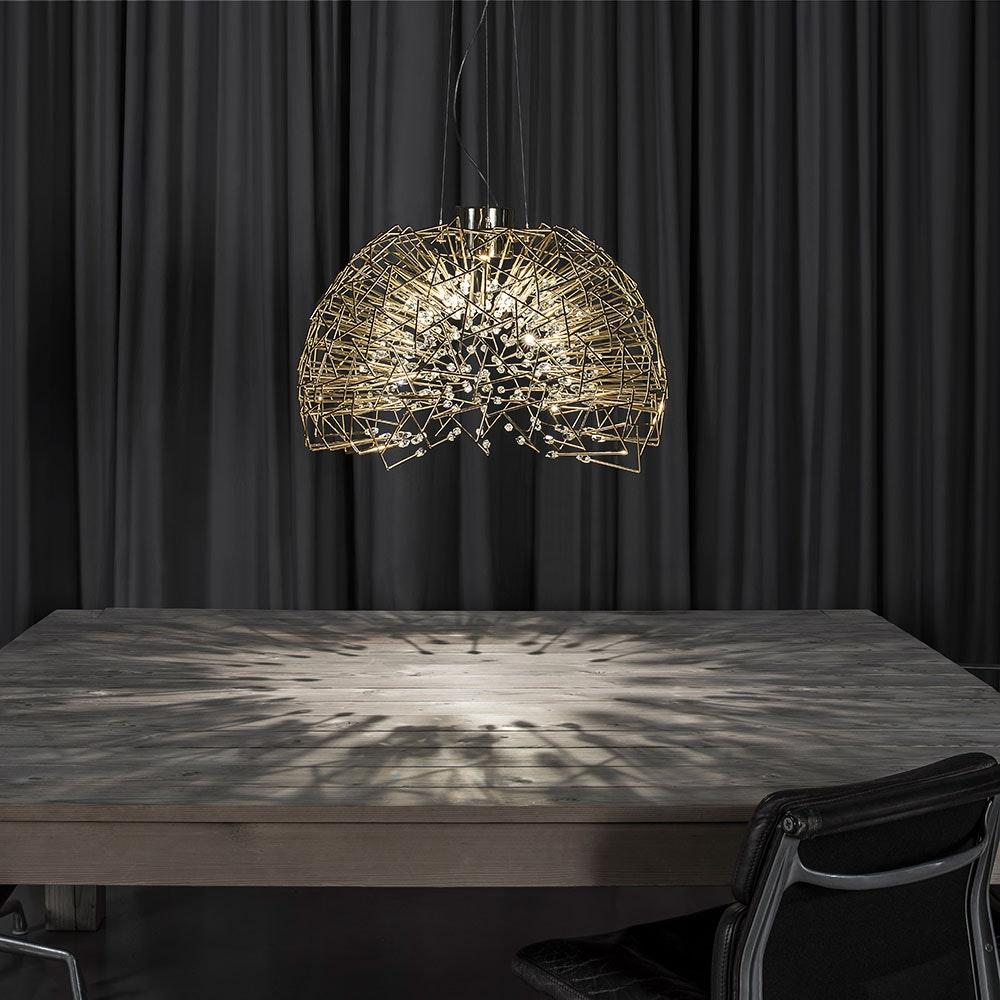 Terzani Core Design-Hängelampe Halbrund Ø 70cm 2