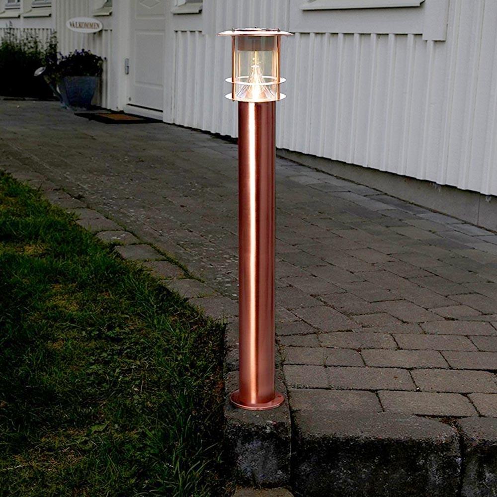 Premium LED Solar Wegeleuchte 78cm Kupfer 1