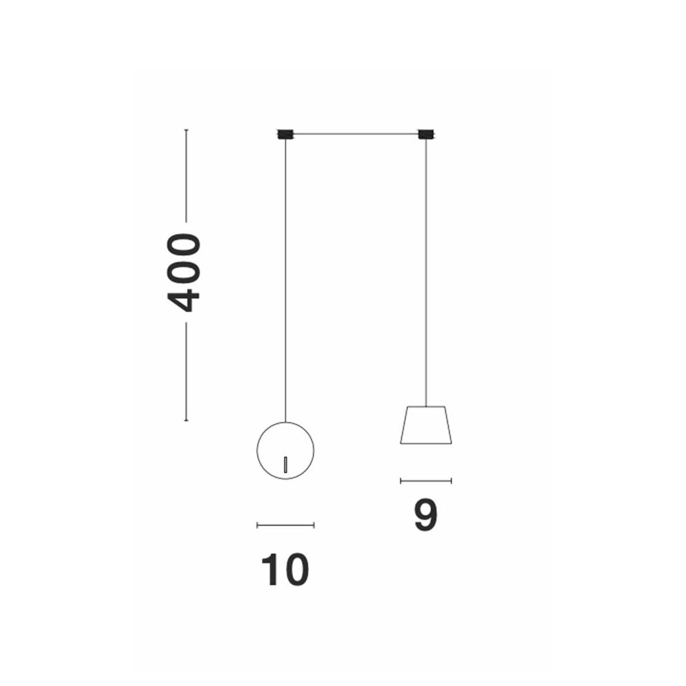 Nova Luce Amadeo Pendelleuchte mit Wandanschluss variabel thumbnail 4