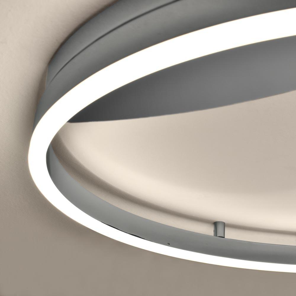 s.LUCE LED Ring 100 Wand & Decke Dimmbar Chrom 9