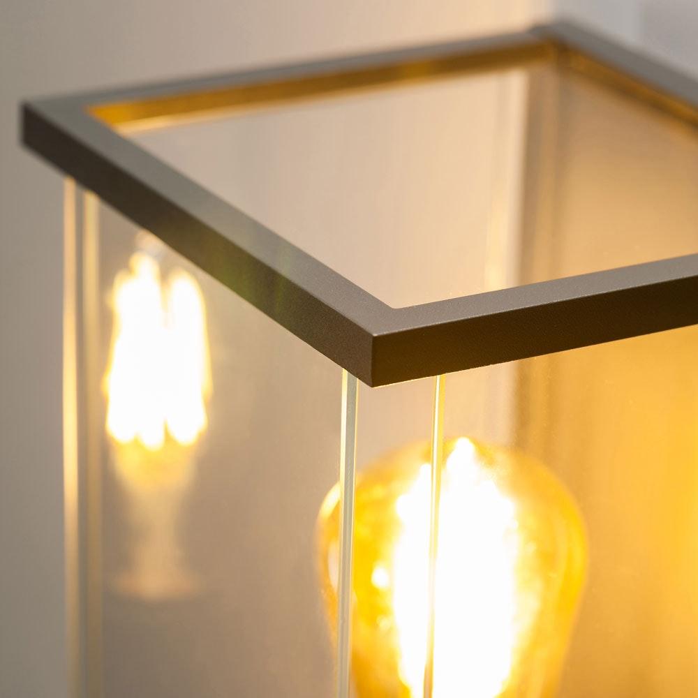 Vetro W1 Außenwandleuchte mit massiven Glas Anthrazit thumbnail 3