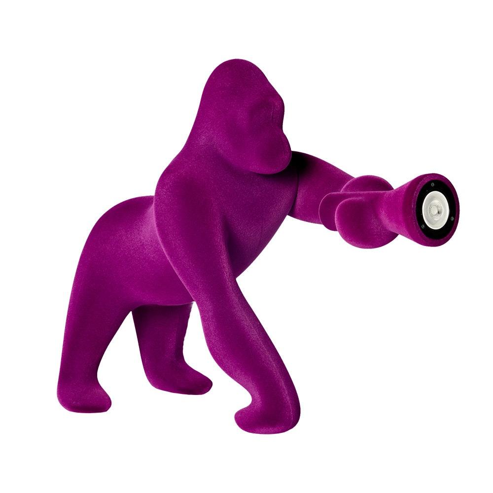 Qeeboo Kong XS Samt Tischlampe Gorilla 9