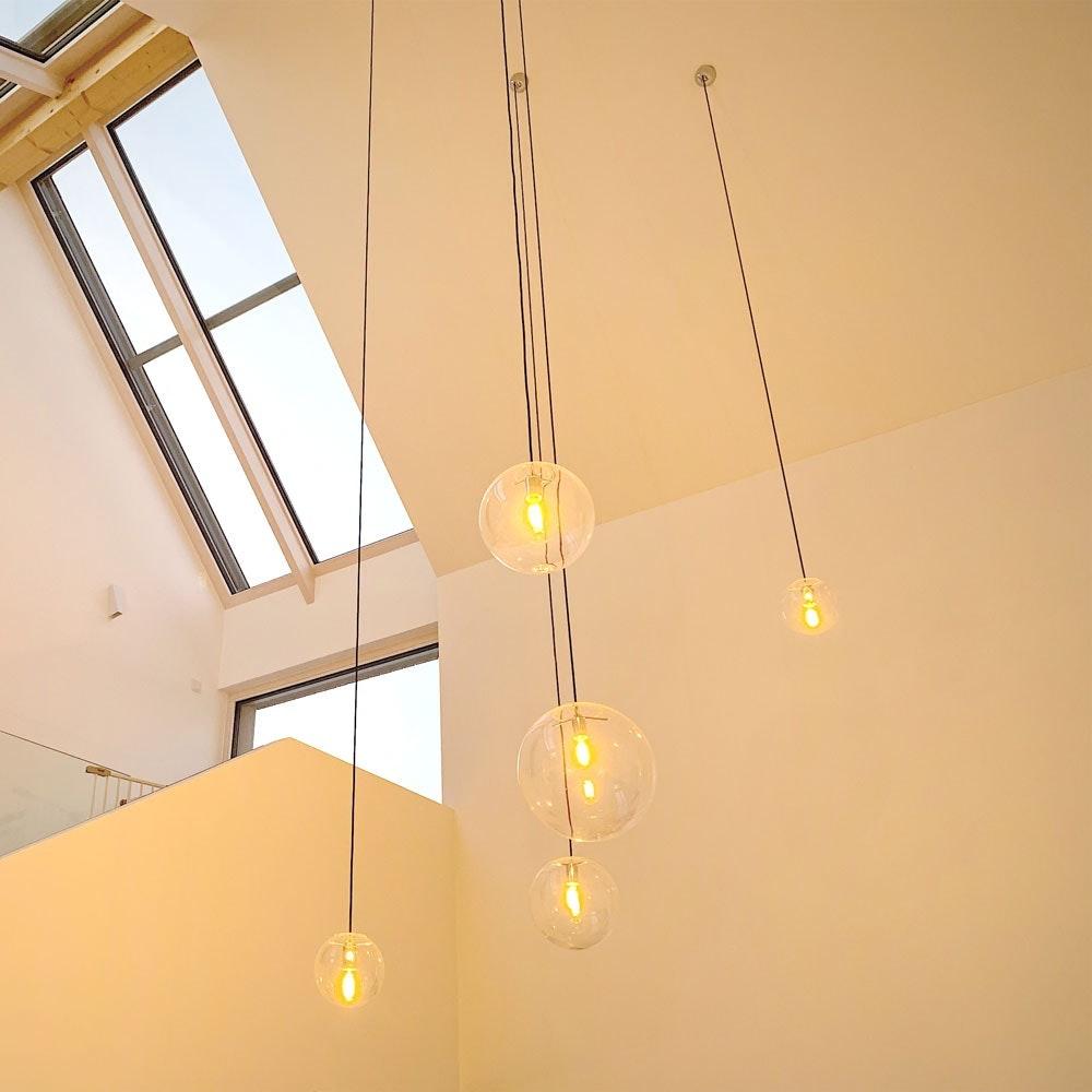 s.LUCE Orb Glaskugel Galerieleuchte 5m Abhängung 22