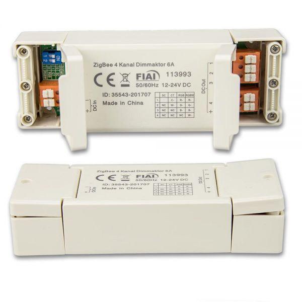 ZigBee Mesh 4 Kanal Dimmaktor für LED Flexbänder und Spots 12-24 V/DC 6A