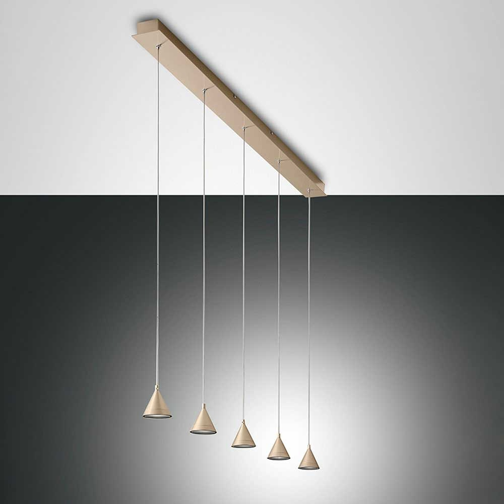 Fabas Luce LED Pendelleuchte Delta Metall 4