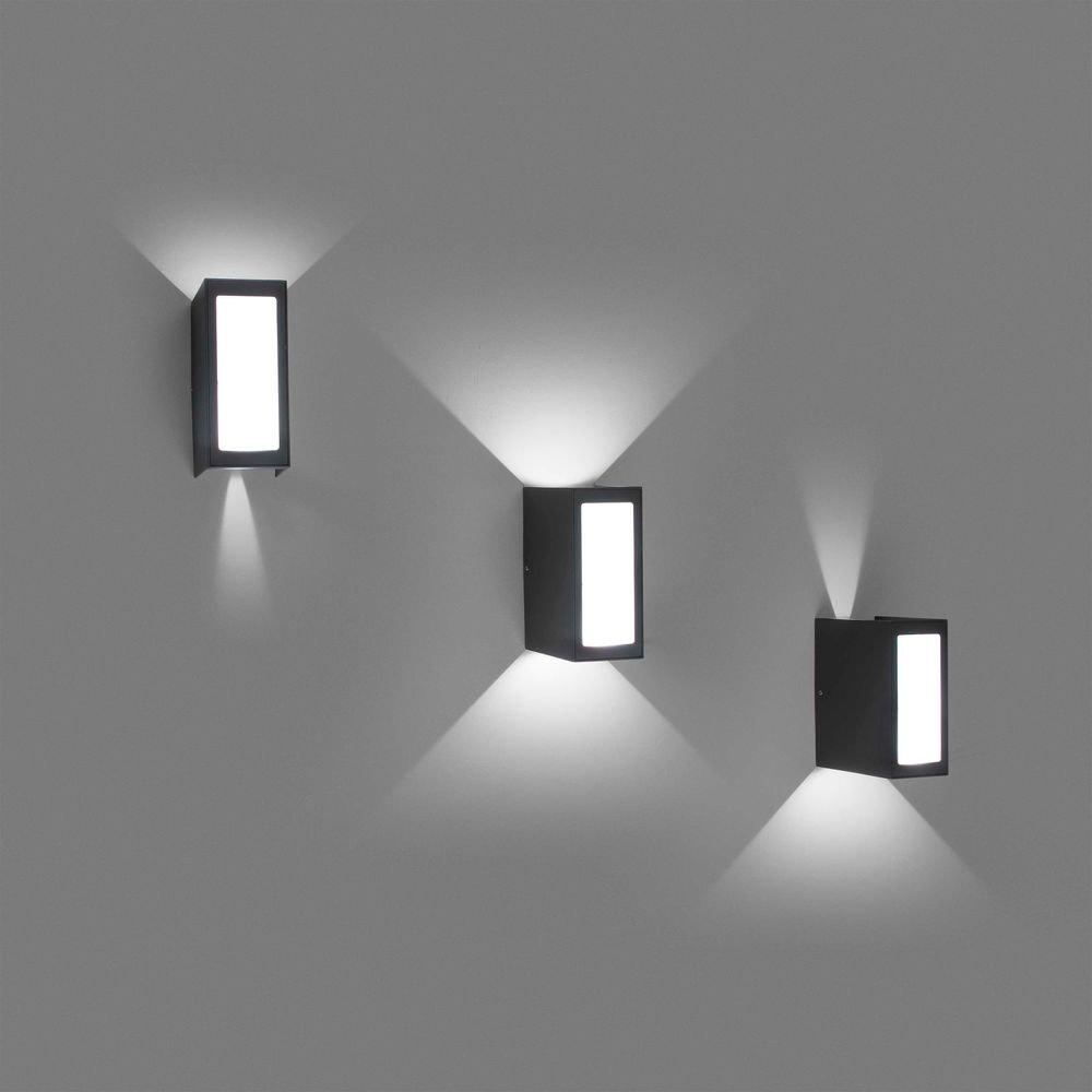 LED Außenwandleuchte LOG 3000K IP54 Dunkelgrau 3