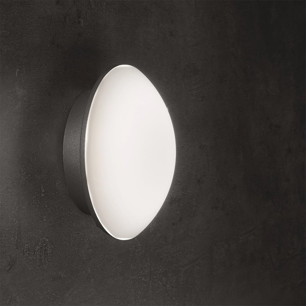 LED Außenwand- & Deckenleuchte Mini IP54 Ø 14cm Anthrazit 6