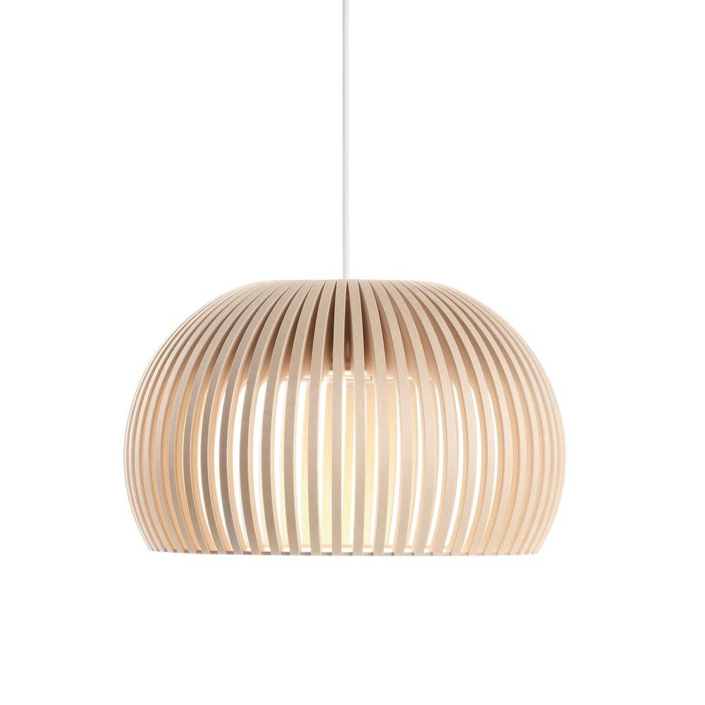 LED Pendelleuchte Atto 5000 aus Holz Ø 34cm 1