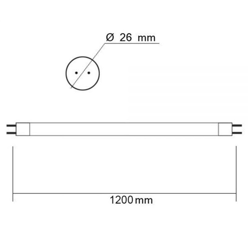 T8 LED Röhre Nano+ 120 in Neutralweiß 2550lm 2