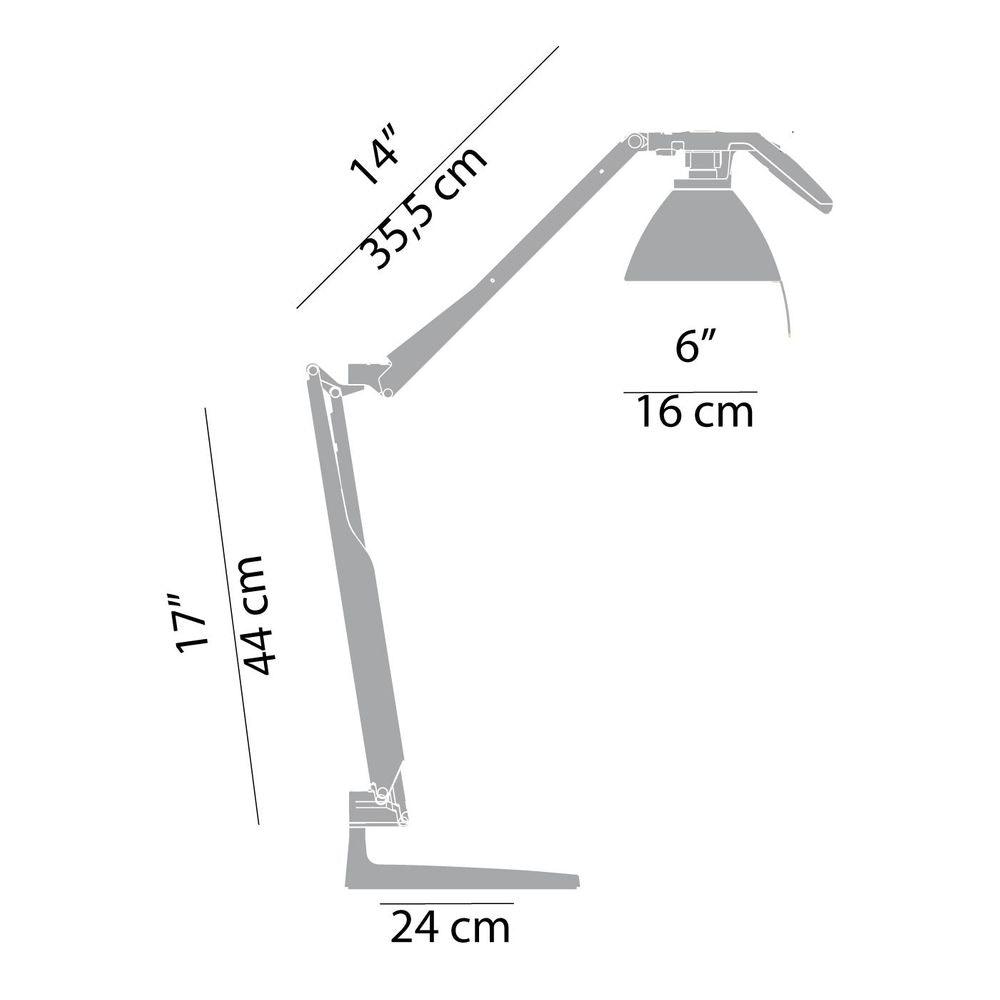 Luceplan Fortebraccio Tisch- & Wandlampe (Körper) 2