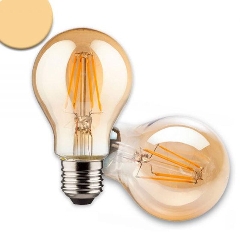 E27 LED Retro dimmbar 8W extra Warmweiß 2200K  1