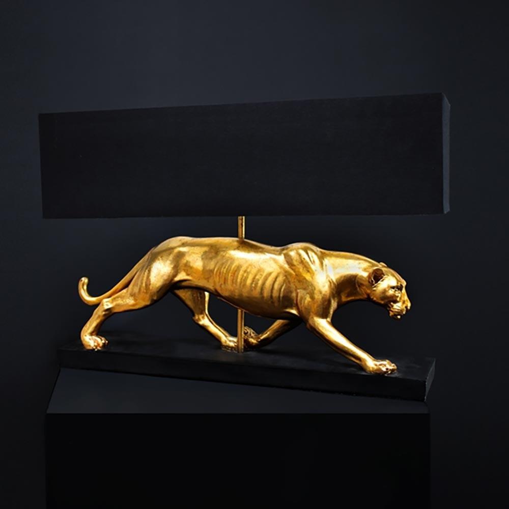 Tischleuchte Panther Schwarz, Gold thumbnail 3