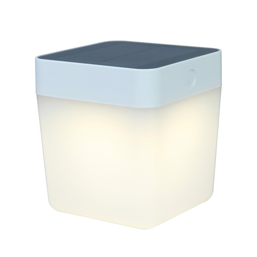 Dimmbare Solar-Tischlampe IP44 Silber 2