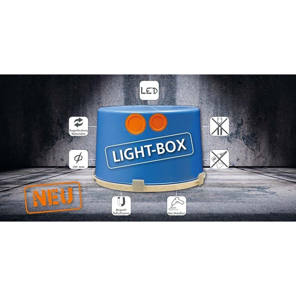 Leuchten-Einbaudose XL Ø 190mm für Betonbau 3