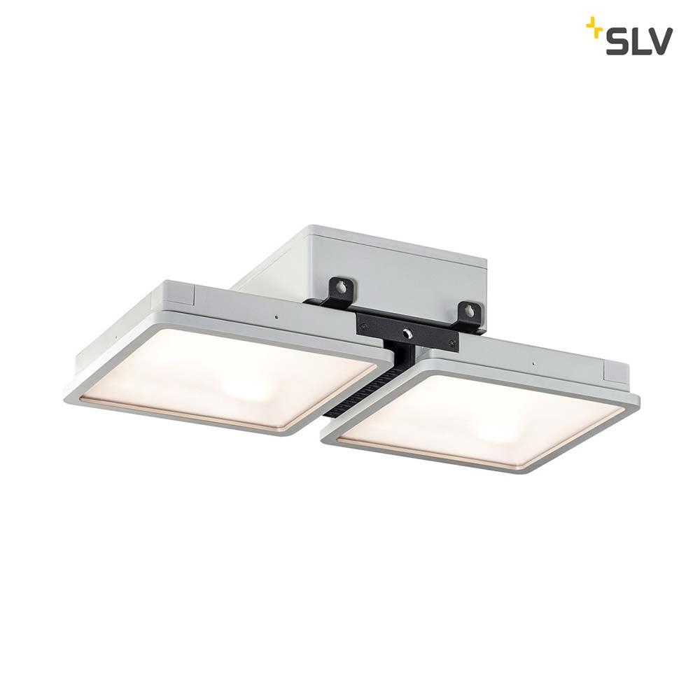 SLV Almino Double LED Aussen-Deckenleuchte Grau IP65 1