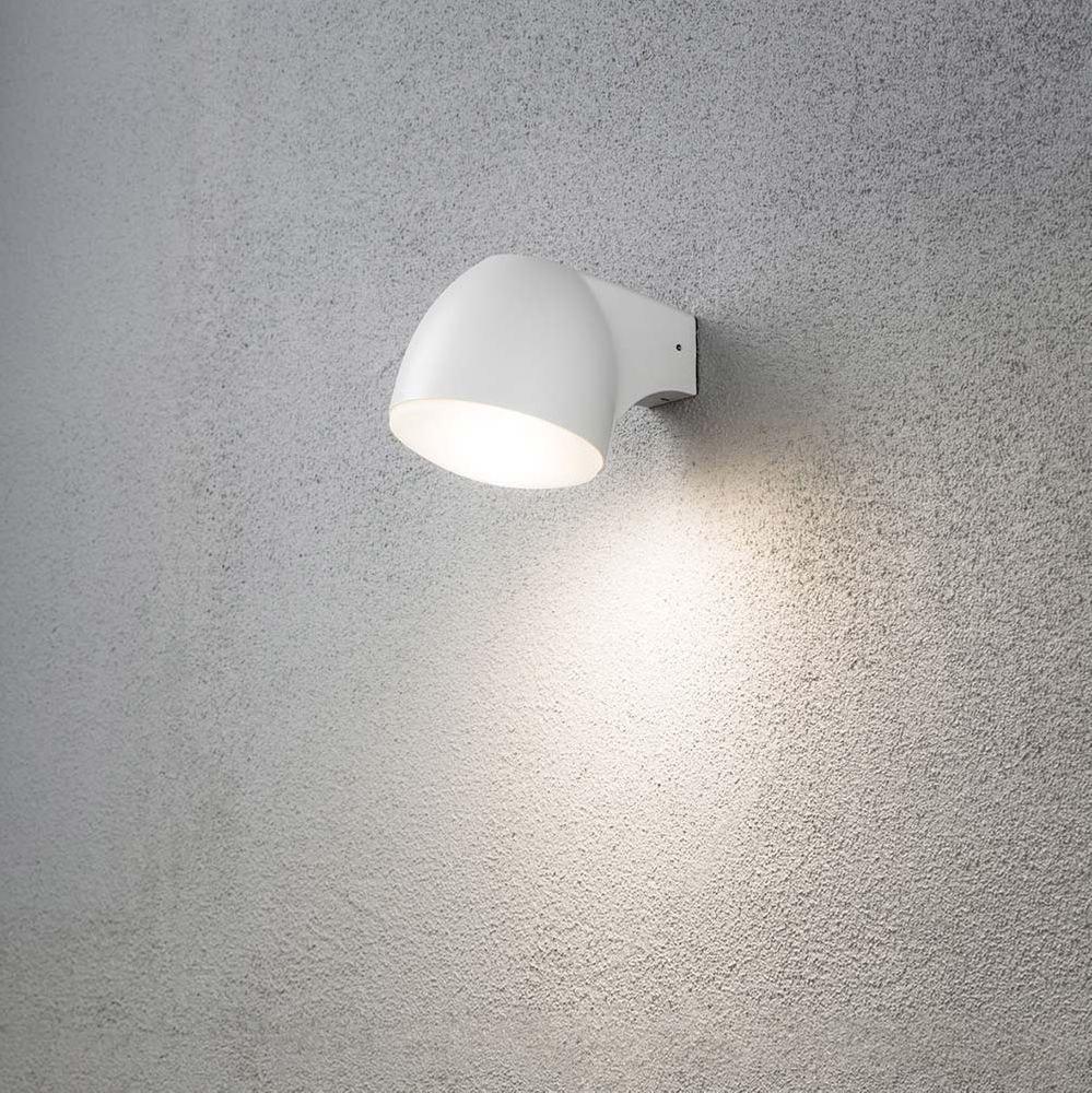 Ferrera LED Aussen-Wandleuchte Weiß, gefrostetes Glas 1