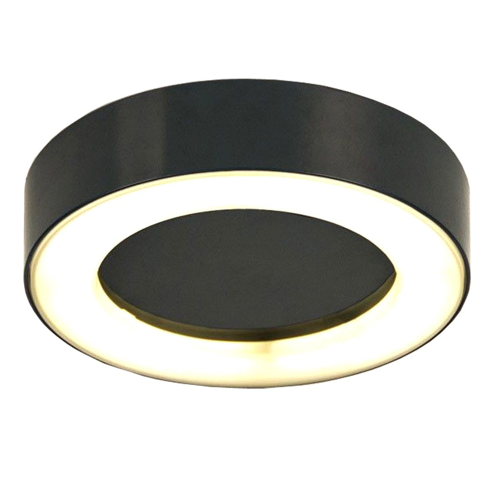 s.LUCE Hole LED-Aussenleuchte Ø 20cm Wand & Decke 10W Anthrazit 2
