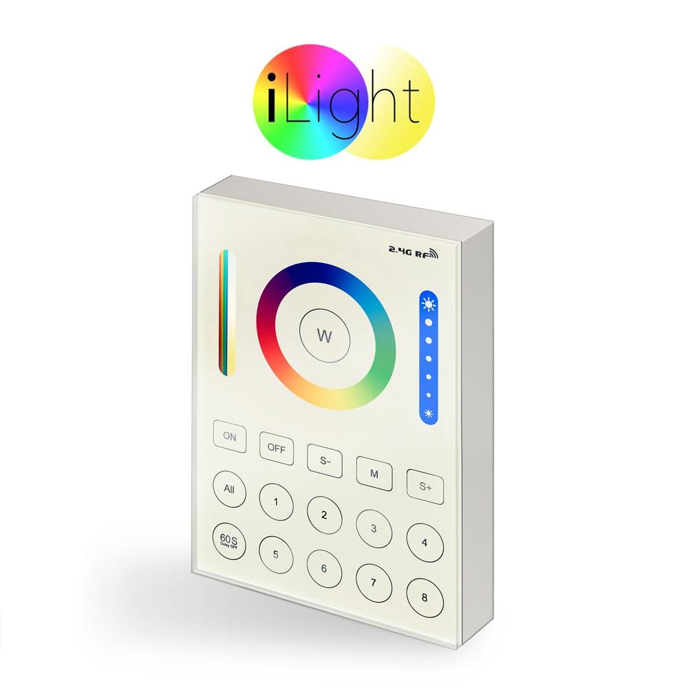s.LUCE iLight 8-Zonen Touch Panel für Leuchtmittel & Strip RGB + CCT 1