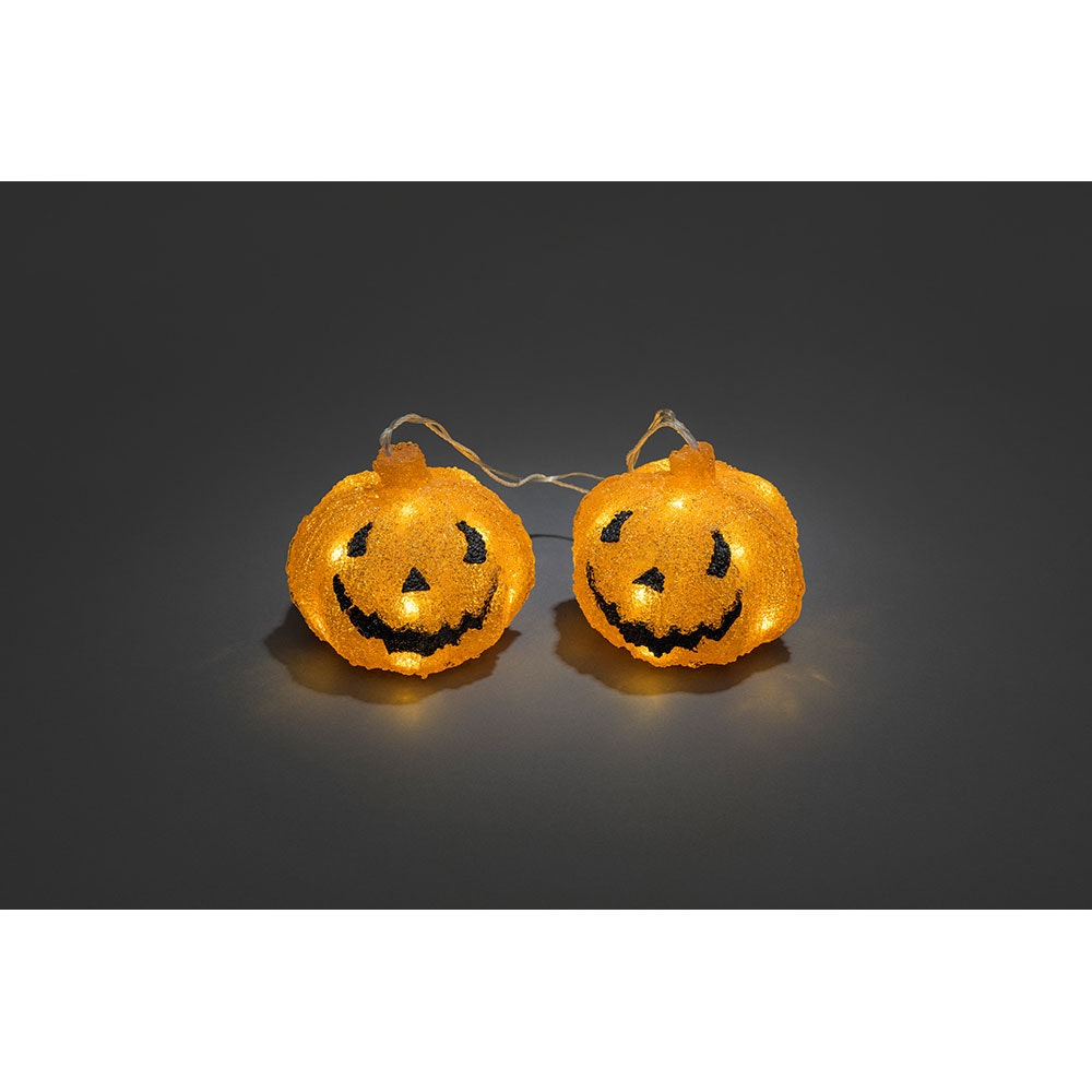 2er-Set LED Halloween Kürbise mit Timer batteriebetrieben 2