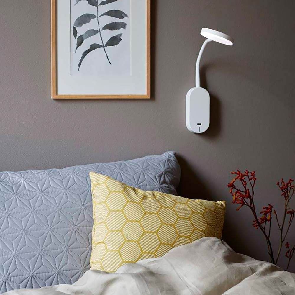Nordlux LED Wandleuchte Mason Weiß, Frosted Glas 3