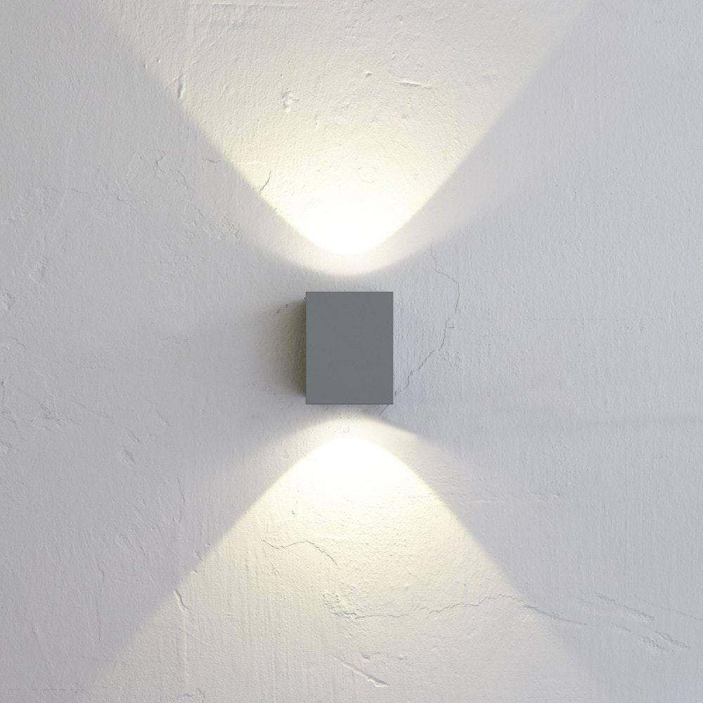 Nordlux LED Außen-Wandlampe Canto Kubi 2 IP44 Grau 1