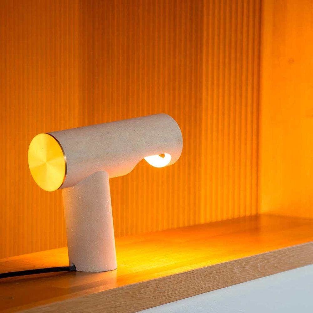 Pulpo LED Tischlampe Simple Light aus Kalkstein 1