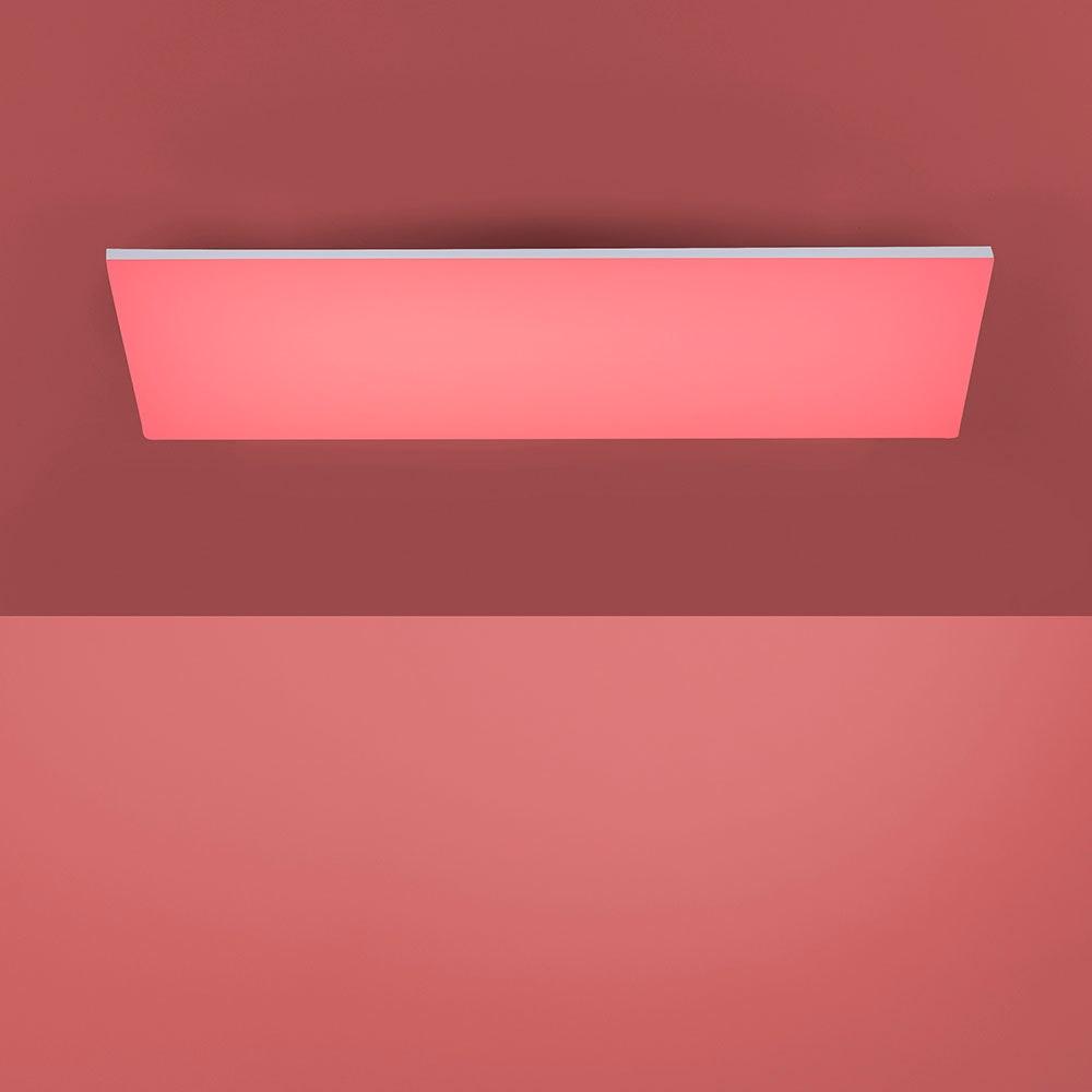 Q-Flat 2.0 rahmenlose LED Deckenlampe 60 x 30cm RGBW + FB Weiß 4