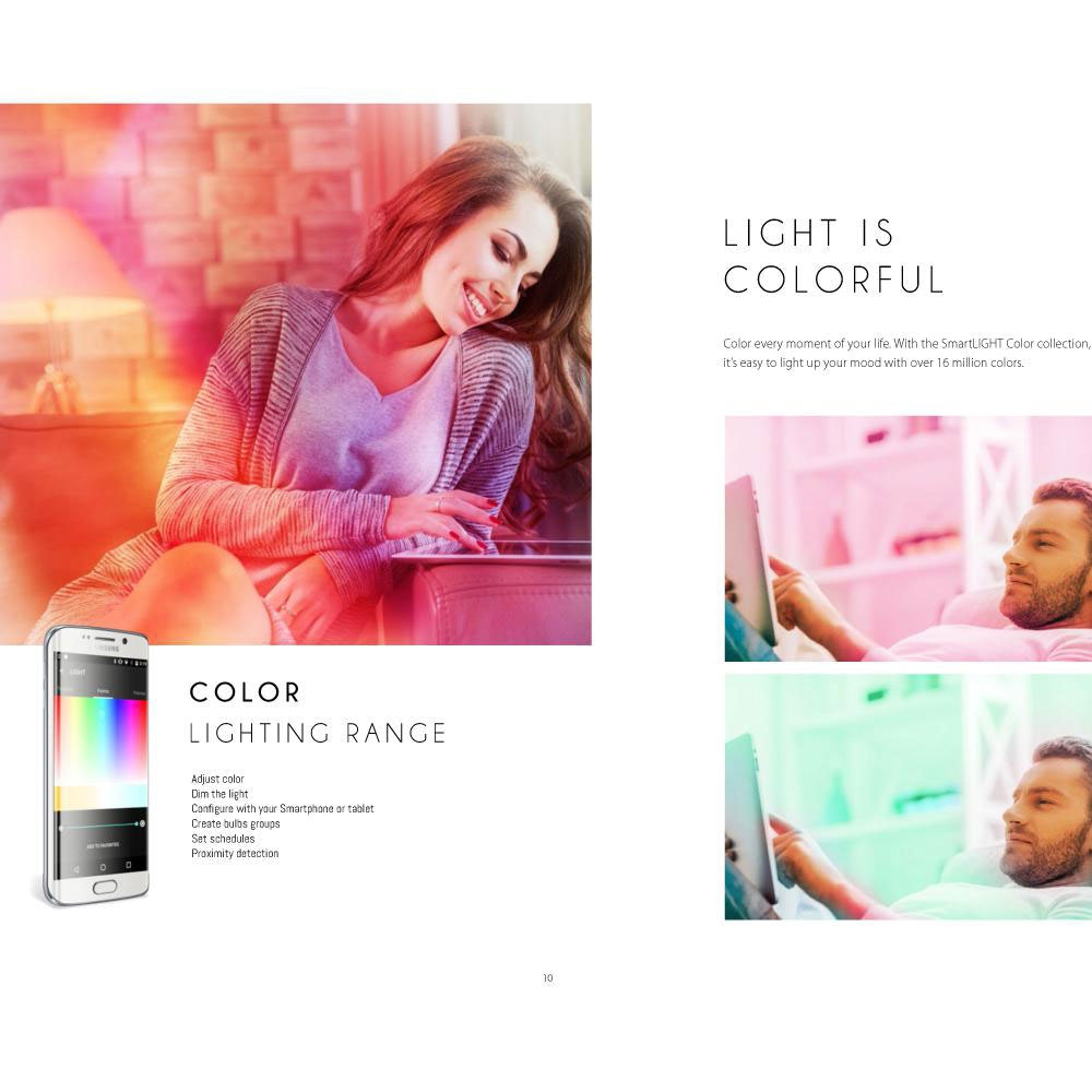 Connect LED Deckenlampe 2-flg. 4600lm RGB+CCT 7