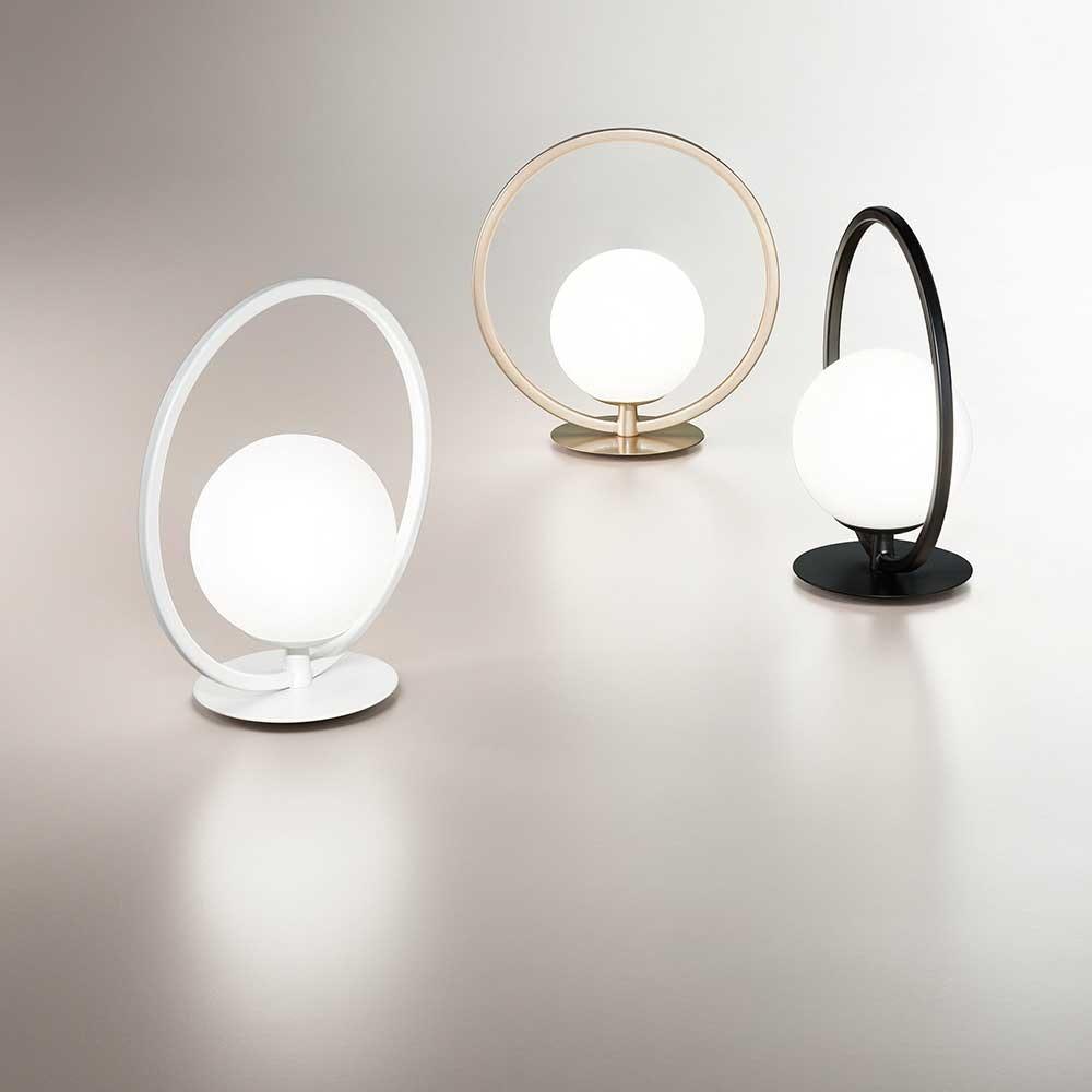 Fabas Luce LED Tischlampe Sirio Rund 3