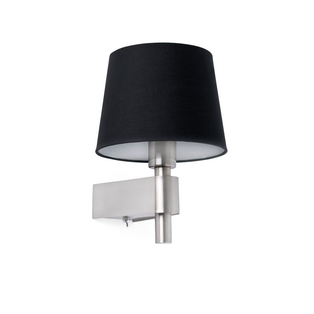 Wandlampe ROOM Nickel, Schwarz 1