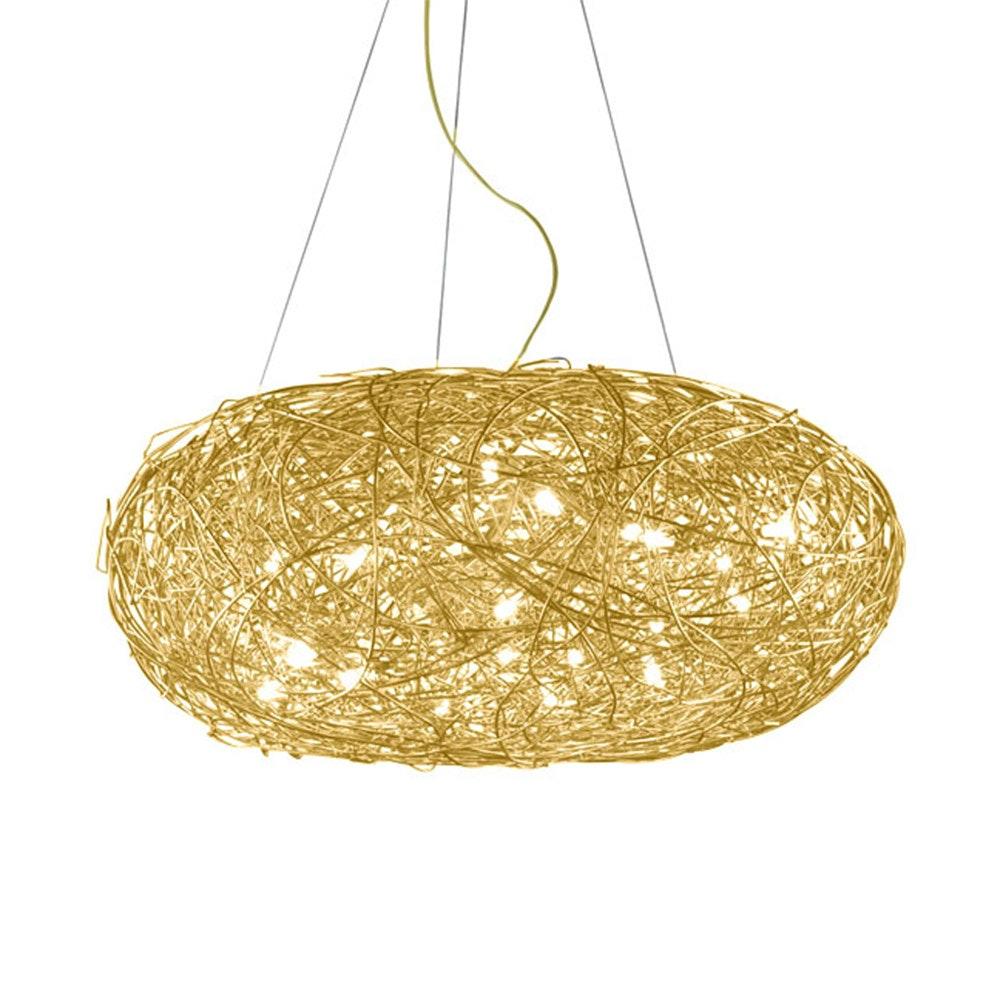 Catellani & Smith Fil de Fer Ovale LED Draht-Hängelampe Dimmbar