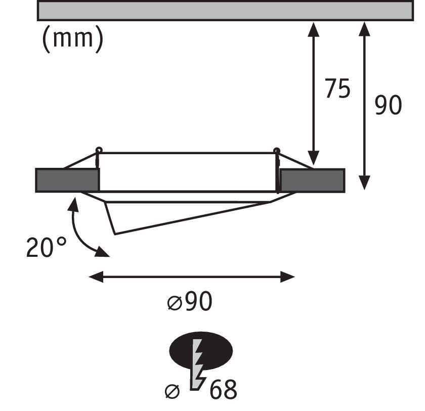 Einbauleuchte LED Base rund GU10 Weiß 3