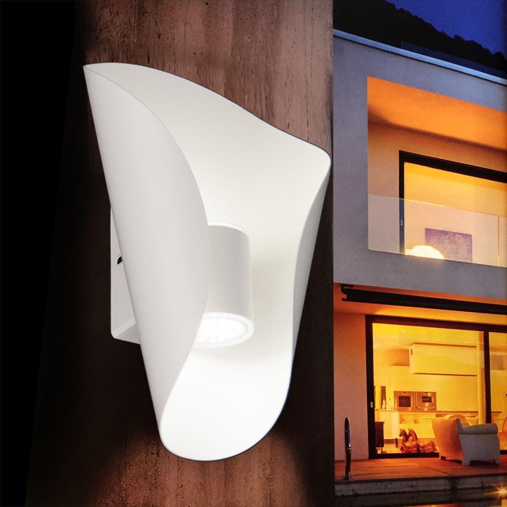 Faglia LED Aussen-Wandleuchte Up&Down 2 x 180lm Weiß 1