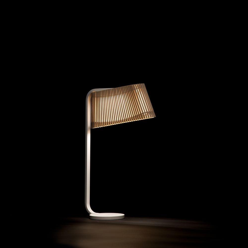 LED Tischleuchte Owalo 7020 aus Holz 50cm 4