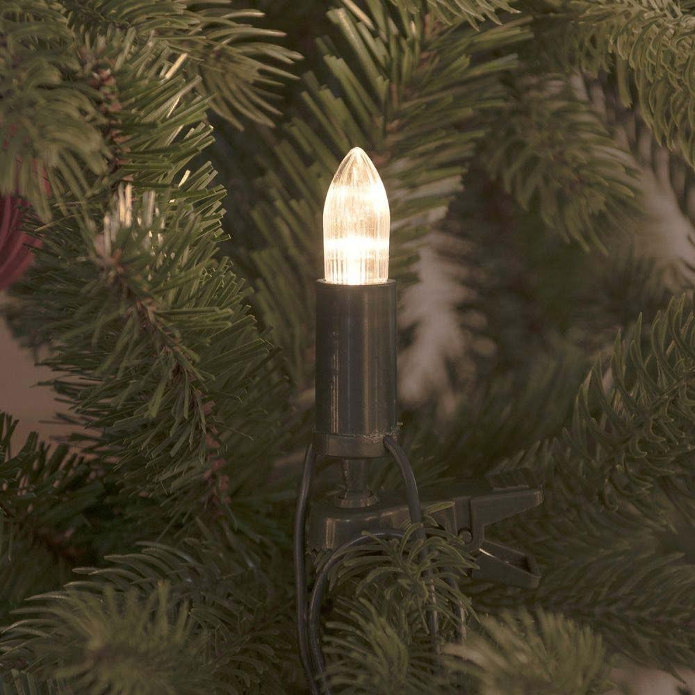 LED Baumkette Topbirnen grün One String verschweißt 16 warmweiße Dioden 2