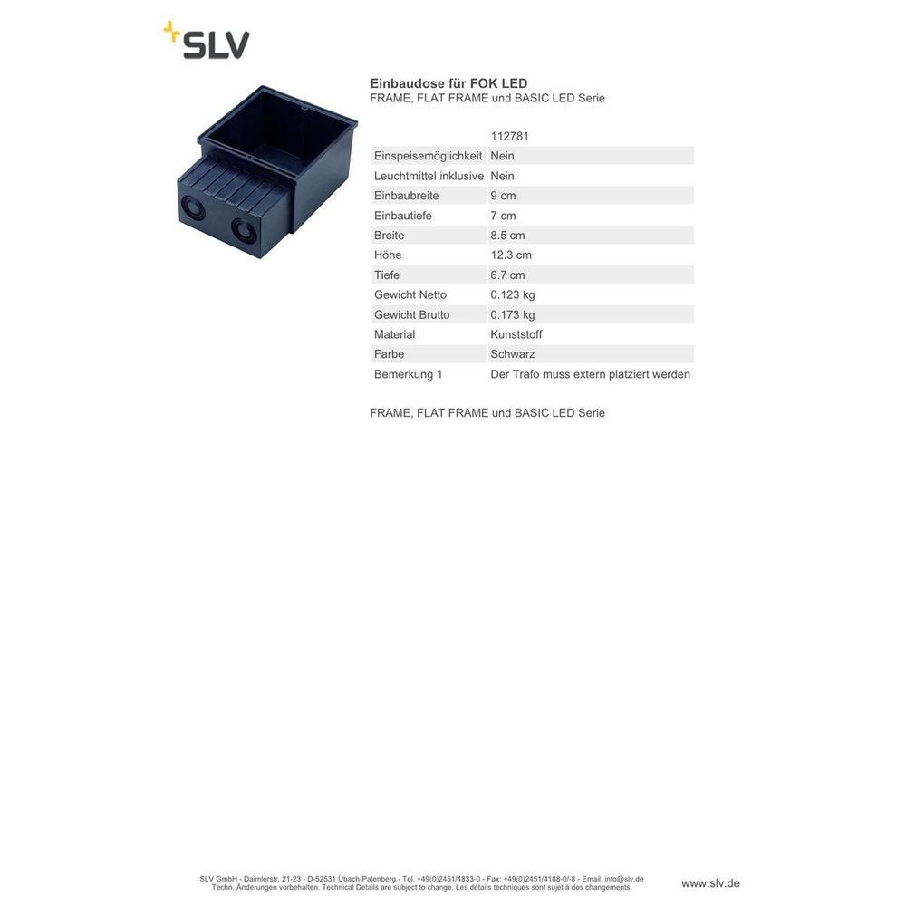 SLV Einbaudose für FOK LED Frame Flat Frame und BASIC LED Serie 2