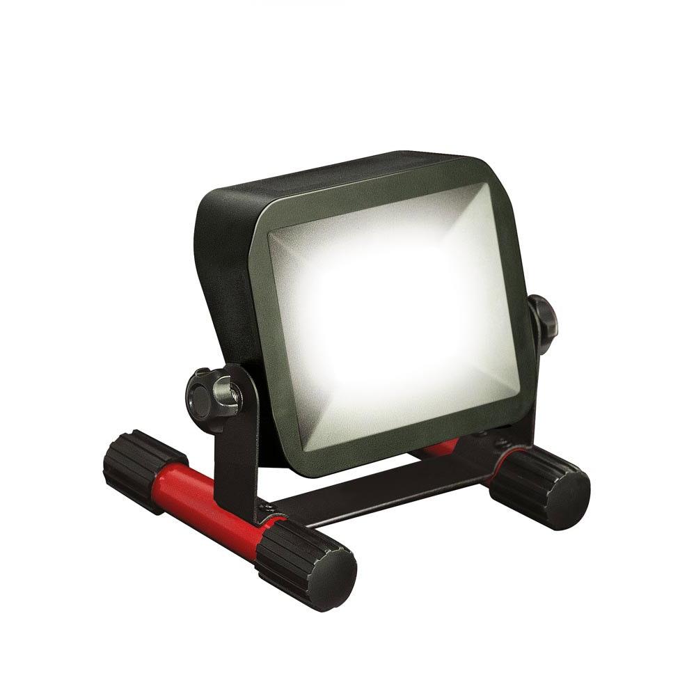 LED Akku-Baustrahler 10W mit Akku Ladestatusanzeige