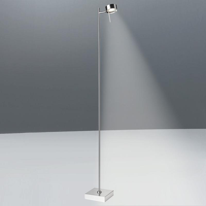 Bling LED Stehleuchte mit Dimmer Chrom-Matt
