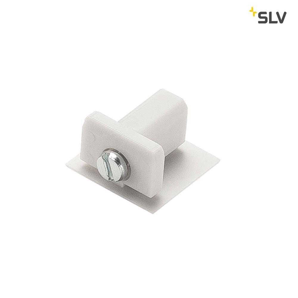 SLV Endkappe für D-Track-Stromschiene 2Phasen Weiß
